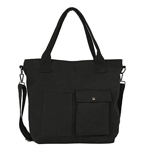 Huaya Damen Literarisch Einfach Bote Tasche Segeltuch Tasche Schulter Tasche -