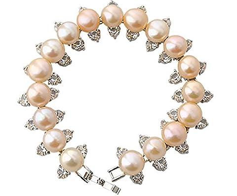 Starzebra Deals idées de cadeau, Rose clair Perle Mode Bracelet avec diamants–Joli Cadeau Saint