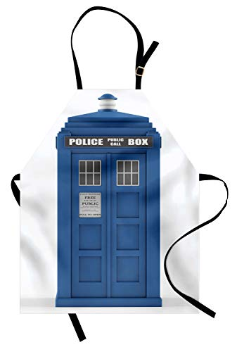 ABAKUHAUS Polizei Kochschürze, Ärzte Blau Haus Britische Wahrzeichen Telefon Box Polizei Anruf Bild Beschäftigung Thema, Farbfest Höhenverstellbar Waschbar Klarer Digitaldruck, Weiß und ()