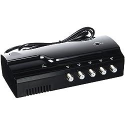 HD-Line HD-14-AMP-I Amplificateur terrestre TNT 4 Voies UHF VHF Gain 25 DB Noir