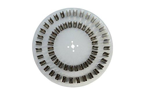 neolab 8501sunlab piatto con 60mollette a D per 1,5ml reazione vasi, alluminio
