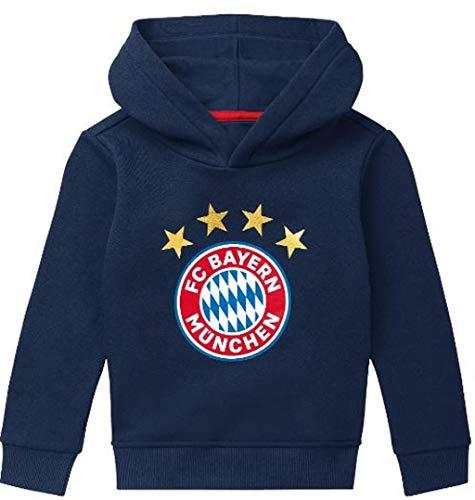 Bayern München kompatibel Hoodie + Sticker München Forever, Kleinkinder Pullover Pulli Shirt Sweatshirt (116)