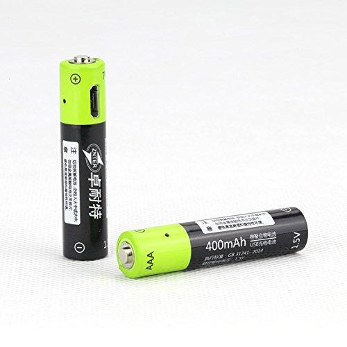 Lithium-Batterie, wiederaufladbare Batterie 400mAh 1.5V AAA für Fernbedienung Spielzeug 1/2 / 4pcs USB