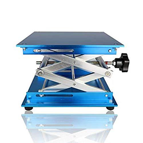 Cikuso 4 Pulgadas Plataforma Elevadora De Tijera Jack De Laboratorio De Aleacion De Aluminio//Almohadilla De Mesa De Elevacion Plegable Control De Altura Para Experimentos De Trabajo