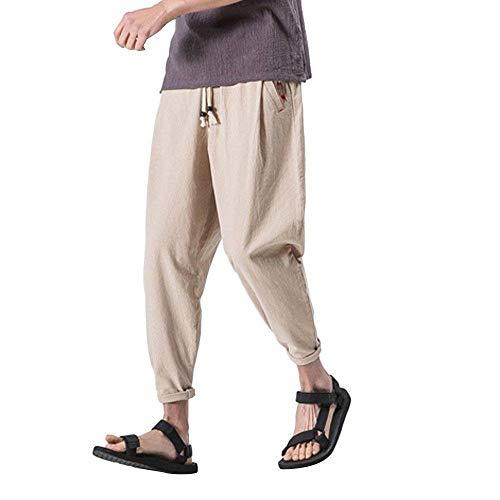 Pantalones De Los Hombres De Boxeo Gimnasio Pantalones De Ocio Acolchado De Clásico Algodón Pantalones Casuales De Ajuste Holgado Pantalones De Chándal Pantalones Largos Pantalones Elásticos Chicos