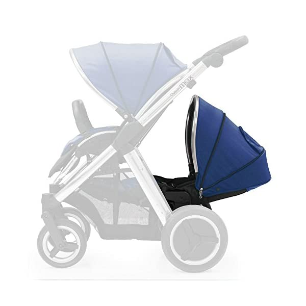Oyster Max 2 Lie-Flat Tandem Seat Colour Pack, Navy  Enables you to change the appearance of your Oyster Max pushchair The colour pack includes a seat liner and colour co-ordinating hood Lie-flat tandem colour pack is made of cotton 1
