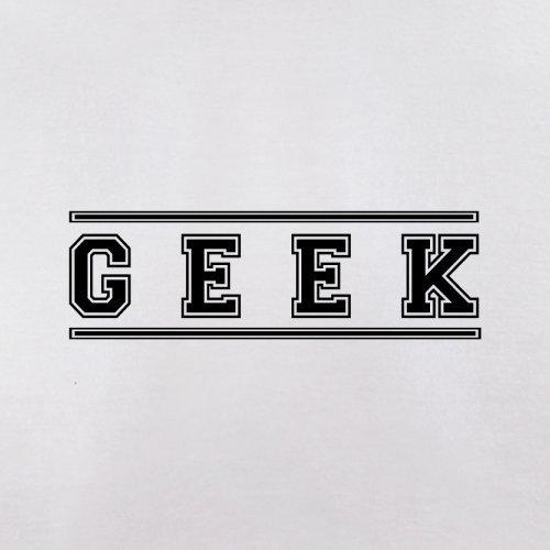 Geek (College Style Font) - Herren T-Shirt - 13 Farben Weiß