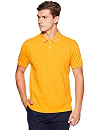 Peter England Men's Plain Regular Fit Polo