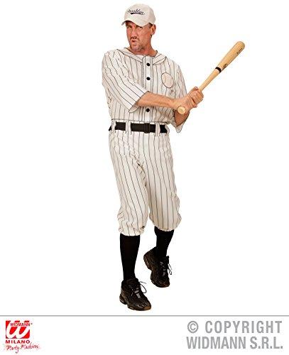KOSTÜM - BASEBALL SPIELER - Größe 52 (L), Sportler USA Trikot Nationalsport Schlagball Mannschaft (Kostüme Halloween Baseball)