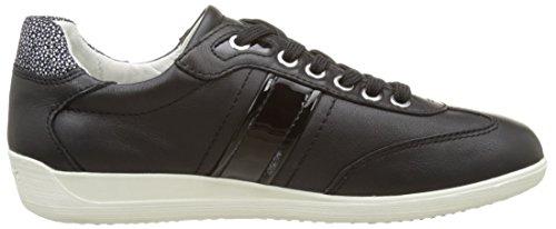 Geox D Myria A, Sneakers Basses Femme Noir (Blackc9999)