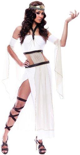 Grecian Kostüm Göttin - Paper Magic Damen French Kiss Grecian Göttin Kostüm, weiß/braun, XS