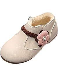 Trainers Running Fitness Atmungsaktiv Sneakers Schuhe Malloom Winter Warme Kinder Kind Mädchen Feste Blume Weave Princess Zip Boots Schuhe