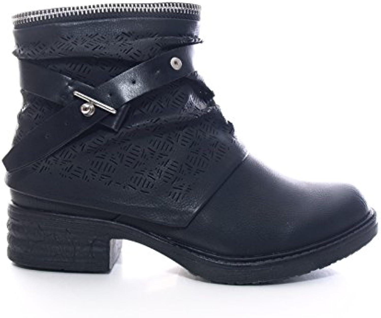 Damen Winter Stiefelette Boots Schwarz Gr. 36-41 # 405 -
