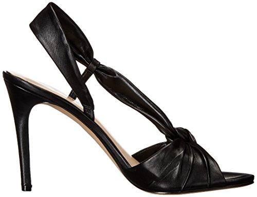 Nove in pelle occidentale Ultana tacco del sandalo Black