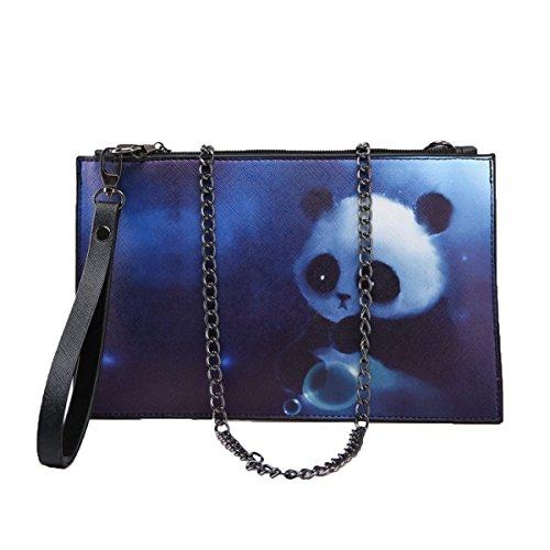 Sacchetto Di Busta Stampato Borsa A Mano Semplice Delle Signore Sacchetto Di Messenger Della Spalla Della Catena Panda