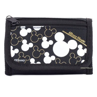 wallet-disney-mickey-mouse-black-silver-trifold-new-0811975-silver