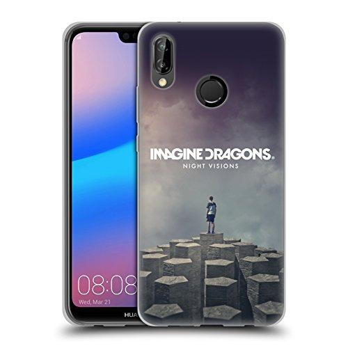 Head Case Designs Offizielle Imagine Dragons Night Visions Plattencover Kunst Soft Gel Hülle für Huawei P20 Lite (Kunst Vision Und)