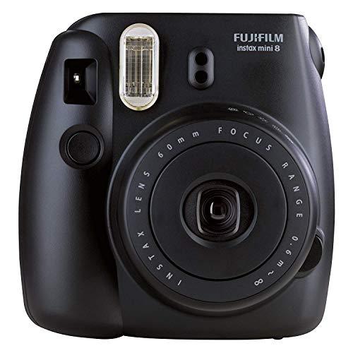 Fujifilm Instax Mini 8 Fotocamera Istantanea per Foto Formato 62 x 46 mm, Nero (Ricondizionato Certificato)
