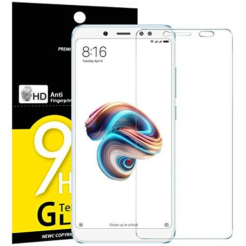 NEW'C PanzerglasFolie Schutzfolie für Xiaomi Redmi Note 5, [3 Stück] Frei von Kratzern Fingabdrücken & Öl, 9H Härte, HD Bildschirmschutzfolie, 0.33mm Ultra-klar, BildschirmschutzfolieXiaomi Redmi Note 5