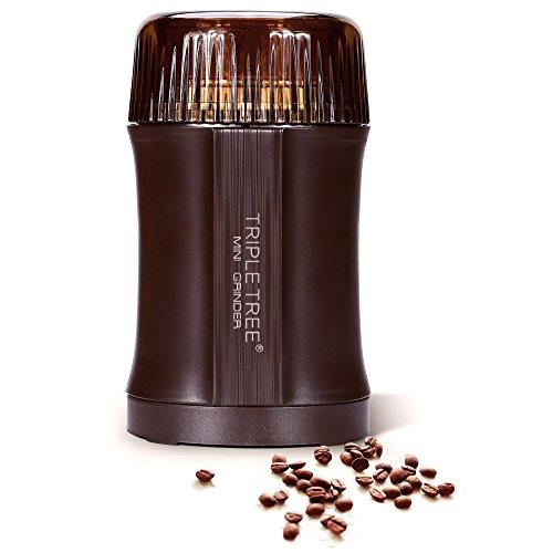 TRIPLE TREE Elektrische Kaffeemühle, 200 Watt Kaffeebohnen | Edelstahl Klingen | 30g Fassungsvermögen | zum mahlen Kaffeebohnen Gewürze Kräutern Nüsse und Getreide