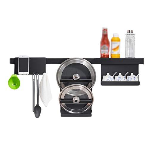 Küchenregal Dwarf Aluminium Ablauf Schwarz Haken Lang Behälter Deckel Wand-montiert Multi-Funktions-Speicher Home Free Punch CHENGYI -