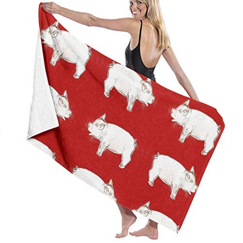 h, Soft, Quick Dry, Jul Pig Hotel & Spa Badetuch, Soft, Quick Dry, 100% Polyester, 32