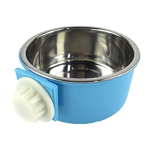 Namsan-Pet-Hanging-Cage-BowlStainless-Steel-Dog-Bowls2-in-1-Small-Animal-FoodWater-Bowl-Blue
