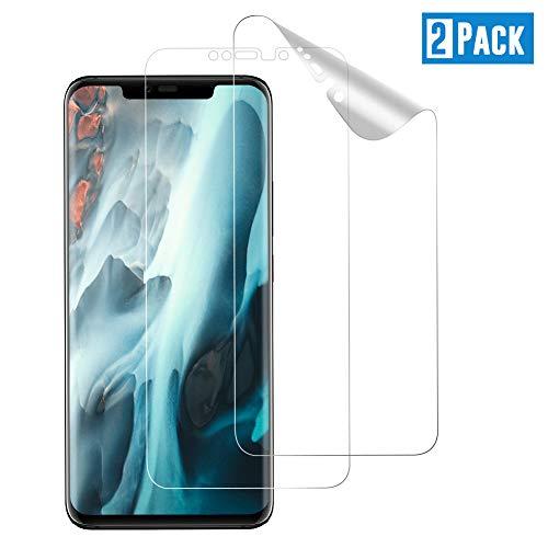 TOIYIOC [2 Stück] Schutzfolie für Huawei Mate 20 Pro, [Vollständige Abdeckung] Ultra-klar TPU Folie, Bildschirmschutzfolie kompatibel Huawei Mate 20 Pro