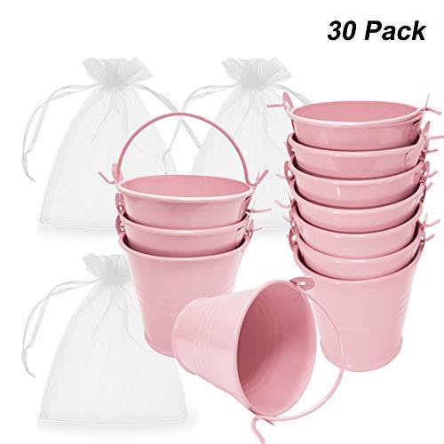Amajoy - Lote 30 cubos metal bolsa transparente caramelos