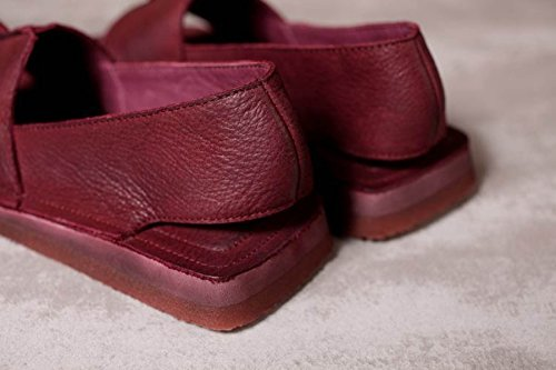 Tête De Poisson Rétro Sandales Plates Confortables à La Main red