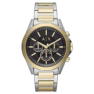 Armani Exchange Herren Chronograph Quarz Uhr mit Edelstahl Armband AX2617