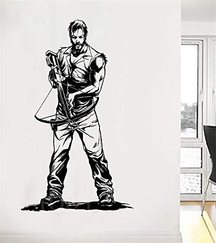 Wandaufkleber Kinderzimmer Daryl Dixon Mit Armbrust The Walking Dead Poster Zombie Tv Aufkleber Für Wohnzimmer Schlafzimmer