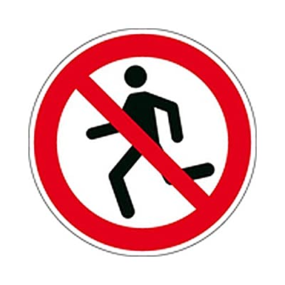 Aufkleber Laufen verboten Verbotszeichen Ø 31,5cm Folie