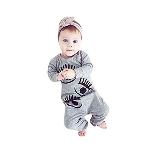 Kleinkinder Kostüm Original Für Ideen (Baby KleidungJYJMMännliche und weibliche Baby Langarm-Overall Winterkleidung Kleinkind Neugeborenes Baby Jungen Mädchen Brief Pfoten Druck Strampler Overall Outfit Kleidung (Größe: 6 Monate,)