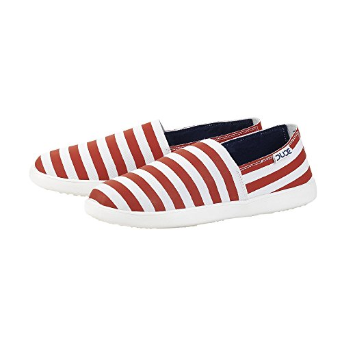 Dude Shoes , Basses femme White & Red & Multi Colou