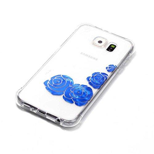 Boxtii® - Cover morbida in TPU per iPhone 6S/iPhone 6, slim fit, antigraffio, antiurto, con pellicola protettiva in vetro temperato in omaggio, PLASTICA, #2 Love, Apple iPhone 5 / iPhone 5s #3 Flower