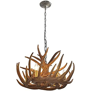 Homelava chandelier antler lighting pendant ceiling lighting with homelava chandelier antler lighting pendant ceiling lighting with 40w 6 lights for dining room living room aloadofball Choice Image