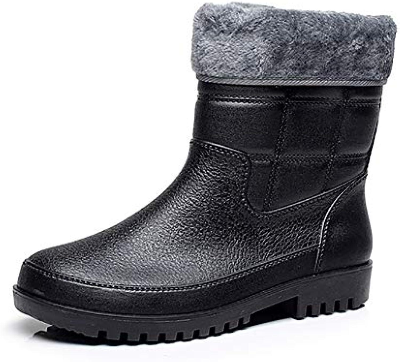 Fohee Stivali da da da Pioggia di Moda, Scarpe da Pioggia in Velluto di Cotone Scarpe da Lavoro all'aperto, Mid-Polpaccio... | Outlet  dcca84