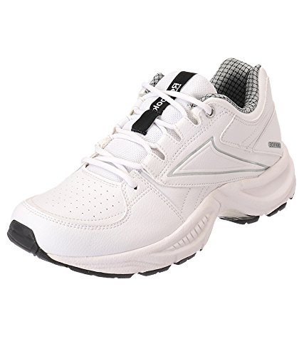 4bee5c5225e85 Reebok 4053518405399 Mens Comfort Run Lp White And Silver Running ...