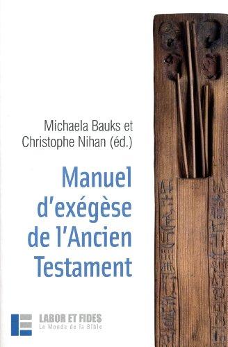 Manuel d'exgse de l'Ancien Testament