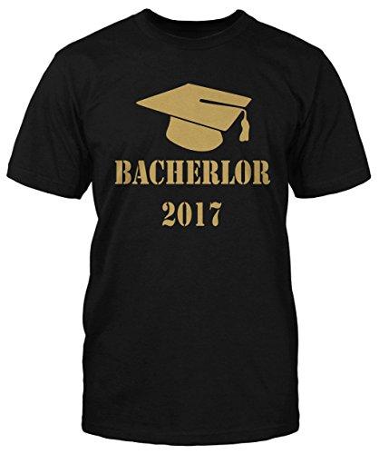 Bachelor 2017 T-Shirt Trendy Sprüche Abschluss Kult Sommer Fun Shirt Neu Herren Schwarz