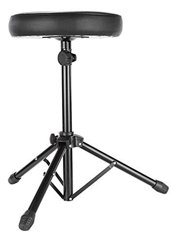 Neewer® universale drum e tastiera Throne, comodo sedile imbottito con base treppiede in metallo regolabile e piedini in gomma antiscivolo, perfetto per percussioni, drum, tastiera, chitarra giocatori e più