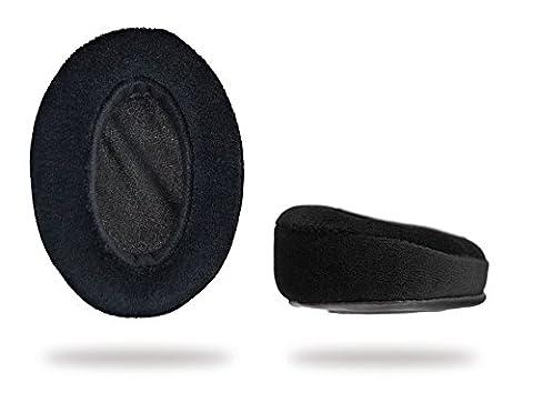 Ohrpolster Brainwavz HM5 - Velours - angewinkelt - schwarz (Earpads - velour - angled - black)