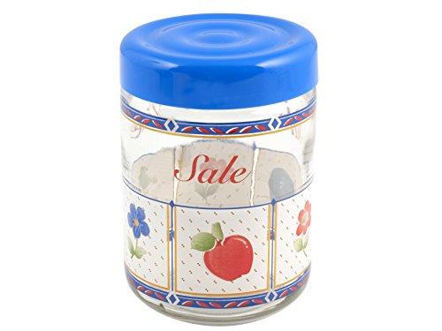H & H Pengo s07388 Vase Viviana sel, 770 Cc, bleu/transparent