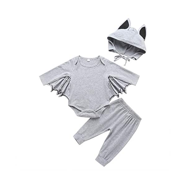 HAOHEYOU Halloween Cosplay Costume Romper Hat Outfits Set For Toddler Newborn Baby Boys Girls Outfit Bodysuit 5
