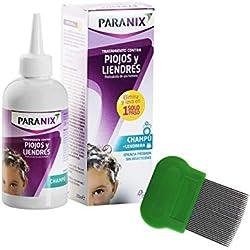 Paranix Champu Antipiojos y Liendres - Sin insecticidas - 100% eficaz en 5 minutos – con Lendrera– 200ml