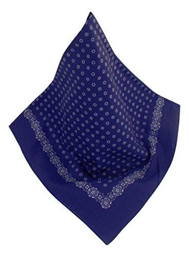 Nickituch mit Punkt-Muster marine | Bandana aus 100% Baumwolle | 70 x 70 cm | Halstuch | Teichmann -
