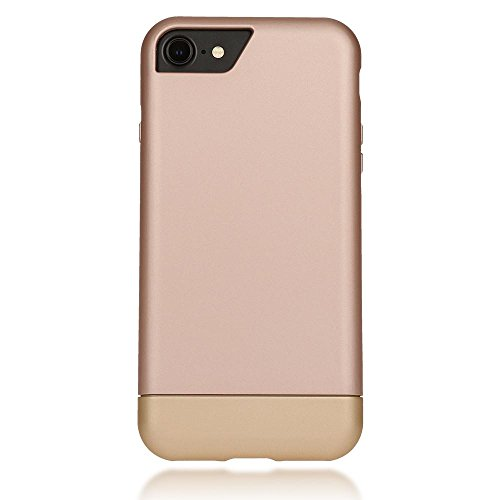 iPhone 8 / 7 Hülle Handyhülle von NICA, stoßfeste Schutzhülle Case, Dünnes Slider Hardcase Handy-Tasche, zwei-teiliges Slim Back-Cover Phone Etui Matt Bumper für Apple iP-7 / 8 Smartphone - Rose Gold Rose Gold