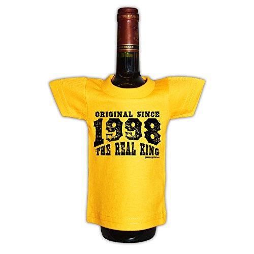 (Mini T-Shirt - Original since 1998 The real king - Originelle Verpackung - Geschenkidee - Geburtstag - Party Gag)