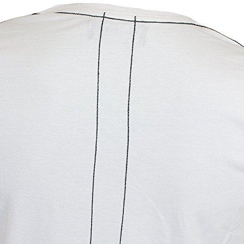 Religion Herren T-Shirt Shirt Kurzarmshirt CHAIN SS CREW NECK CURVE HEM TEE B2415CHF07 Weiß